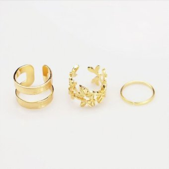 Harga Jetting Buy Women Charm Hollow Flower Finger Ring Set Chic Leaf Ring Fashion Knuckle Rings Gold