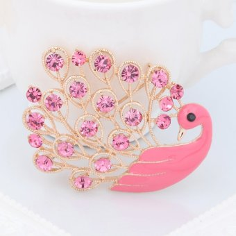 Harga Ya Bao diamond Peacock shawl buckle brooch