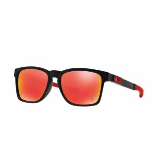Harga Oakley Sunglasses Catalyst OO9272 - Active Performance - Matte Black (927207) Size 55 Ruby Iridium
