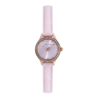 Harga Ted Baker 10023510 Rose Gold/Pink Crystal Watch Leather