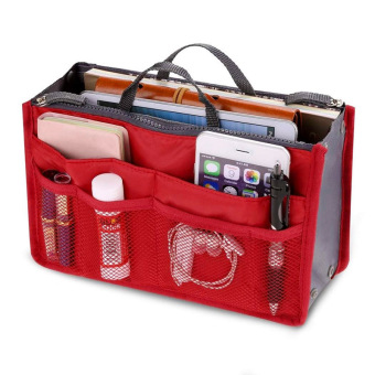 Harga PAlight Cosmetic Pouch Organizer Storage bag (Red)