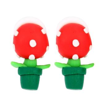 Harga Lady 3D Cartoon Earrings Polymer Clay Stud Earrings - intl