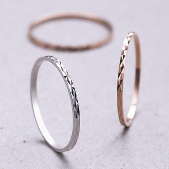 Harga 100% Real 925 Sterling Silver Rings Above Knuckle Ring Band Midi Ring (1 Pcs ) (Size/Style:16 ᆪᆲColorᆪᄎRose gold) - intl