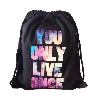 Harga You Only Live Once Drawstring Bag