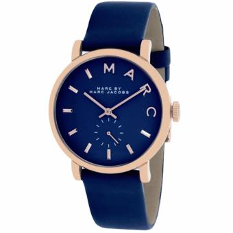 Harga Marc by Marc Jacobs Baker Mini Navy Leather Watch MBM1331