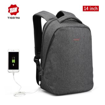 Harga Tigernu Fashion Anti-thief Backpack With USB Charging Port fit for 12-14inches Laptop3164USB - intl
