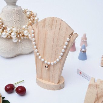 Wood bevel plate pendant display rack jewelry display rack bracelet necklace earrings plate ceramic ring holder