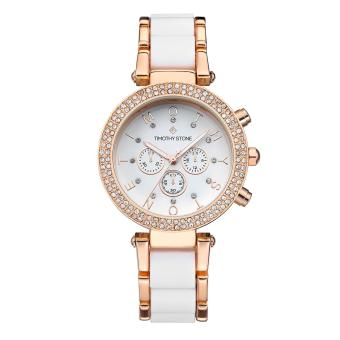 Harga Timothy Stone Women's DÉSIRE-BICOLOR Rose Gold-Tone and White Watch - intl