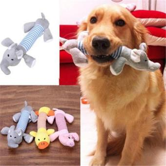 New Pet Toy Squeaky Duck Elephant Dog Toys Puppy Chew Sound Plush Toys - intl