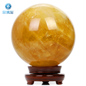 Lucky yellow open light natural feng shui ball
