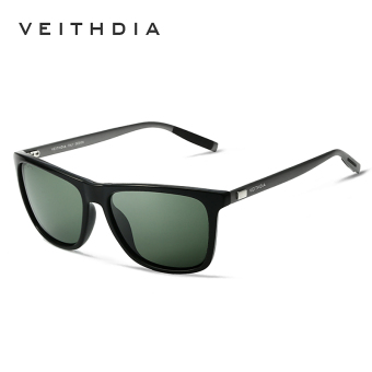 Harga VEITHDIA Brand Unisex Retro Aluminum+TR90 Sunglasses Polarized Lens Vintage Eyewear Accessories Sun Glasses For Men/Women 6108(Green)