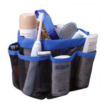 Harga BXT Spacious 8 Mesh Pockets Quickly Dry Hanging Shower Caddy Toiletry Organizer Cosmetics Storage Bags Portable Multifunctional Water Resistance Travel/GYM/Dorm/Office Bathroom Washing Bag