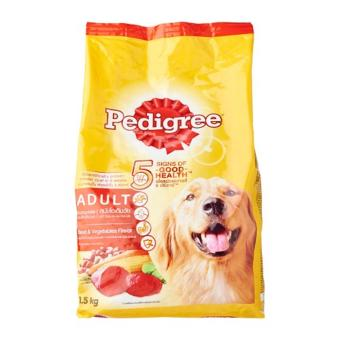 Harga Pedigree Adult Complete Nutrition Beef and Vegetable Dry Dog Food - 1 x 1.5 kg