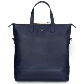 "Harga Knomo Vigo 14"" Leather Cross-body Tote (Navy)"