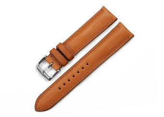 iStrap 20mm Genuine Calf Leather Watch Straps BandSteel Spring Bar Buckle Replacement Clasp Super Soft Brown 20