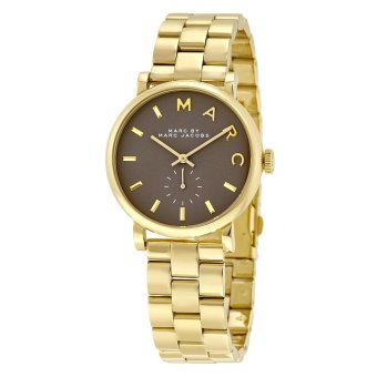 Harga Marc Jacobs MBM3281 Grey Baker Grey Dial Gold-plated Ladies Watch