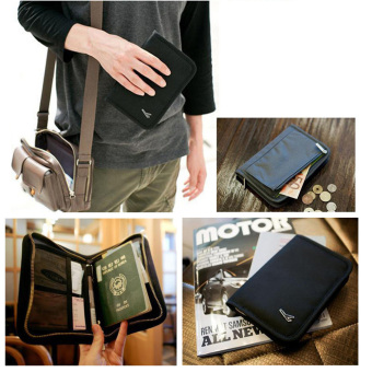 Harga Travel Passport Holder Travel Wallet Pen Holder -Black
