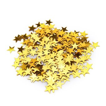 Harga Wedding Sparkle Scatter Stars Table Confetti Foil Birthday Party Decor Gold 10mm - intl