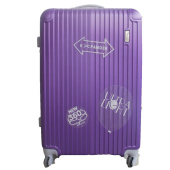 Harga Winning #339 Ultralight ABS Expandable Luggage with TSA Lock 28inch (Purple)