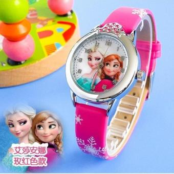 Harga New Cute Children Watch Watches Fashion Girl Kids Student Cute Leather quartz Wrist Watches - intl