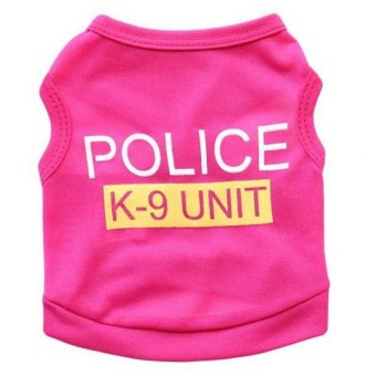 Harga BolehDeals Pet Dog Puppy Cat Clothes Jacket Hoodie Police Vest Costume Coat Rosy S - intl