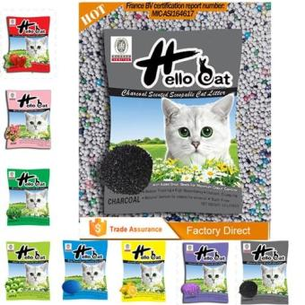 Harga Hello Cat Scoopable Charcoal Cat Litter 10L