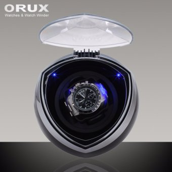 Harga ORUX Black New Arrival White Single Watch Winder for automatic watches watch box automatic winder storage display case box - intl