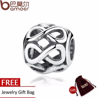 Harga Authentic 925 Sterling Silver Knot INFINITE SHINE CHARM Fit Bracelet Necklace for Women Beads & Jewelry Making PAS305 - Intl