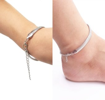 Harga BikiWave Anklet for Woman Barefoot Sandals Foot Beach Jewelry Chain Bracelets Gold