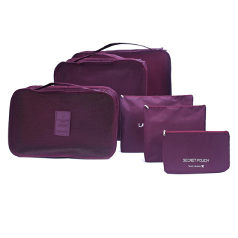 Harga Travel pounch/6-Pc in 1 set Travel Bag(wine)