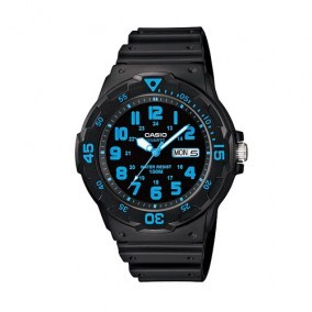 Harga Casio Men's Black Resin Strap Watch MRW200H-2B