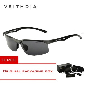 Harga VEITHDIA Aluminum Magnesium Polarized Mens Sunglasses Rimless Driving Sun Glasses Sport Eyewear Accessories For Men male 6591( (Grey/Grey) - intl