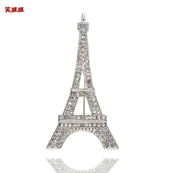 Harga Smiling Paris tower corsage brooch