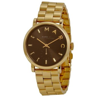 Harga Marc Jacobs MBM3355 Baker Black Dial Gold-tone Steel Ladies Watch