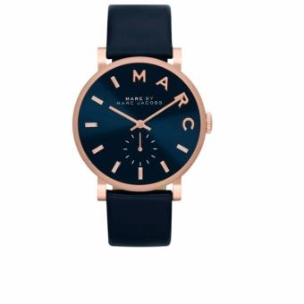 Harga Marc by Marc Jacobs Baker Navy Dial Navy Leather Ladies Watch MBM1329