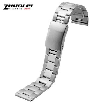 Harga Zhuo lei stainless steel strap steel strap for longines armani | 22 | 24 | 26mm