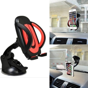 Harga For Cell Phone GPS Universal 360° Car Windscreen Dashboard Mount Stand Holder Black - intl