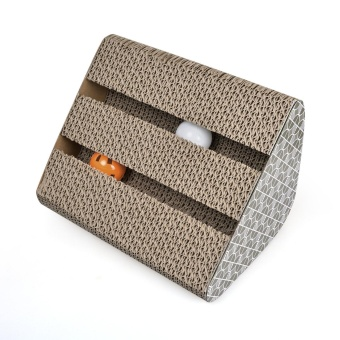 Harga LETSBAY Cat Griffoir, Cat Scratcher Carton Scratch Toys Cat Toy with Plastic Ball and Tinkerbell Inside, Cat - intl
