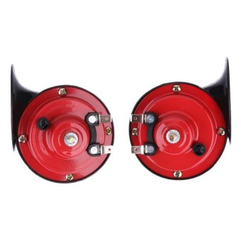 Harga Universal One Pair12V135DB Loud Car Dual-tone Snail Electric Air Horn Siren - intl
