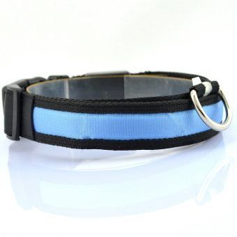 Harga Luminous dog chain rope dog collar(S-blue)