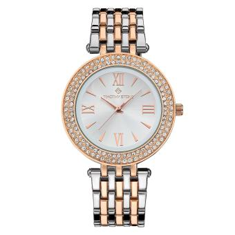 Harga Timothy Stone Women's BURST-BICOLOR Rose Gold-Tone and Silver Watch - intl