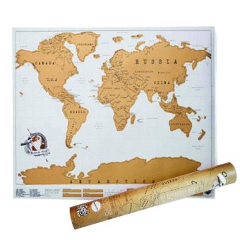 Harga Scratch Off Traveling World Maps Scratch Your Travels for Global Travel Tracker 34 x 20 inch - intl