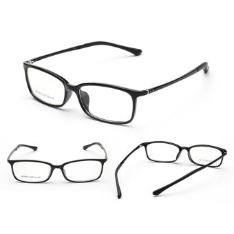 Harga ZUNCLE TR90 Material Style Frame Square Lens Spectacles Eyeglass(Black)