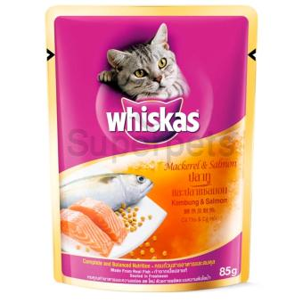 Whiskas Pouch Mackerel & Salmon 85g 12pcs