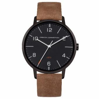 French Connection Newgate 39mm - Tan Brown Leather Strap (FC1277BT)