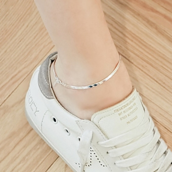 Harga S925 sterling silver day Korea minimalist temperament Cool creative Yi Gu fresh Sen Department retro student GUI honey anklets female