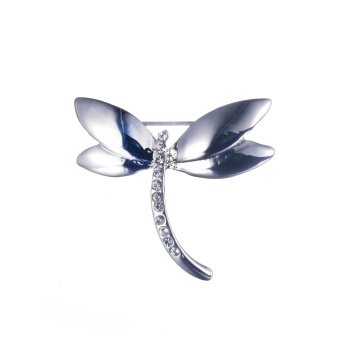 Harga Loches Lynn Silvery Dragonfly Fashion Brooch Pendant STELLUX Elements AUSTRIAN CRYSTALS (B-5621)