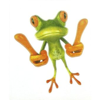 Harga 3D Belaud Frog Funny Car Stickers Truck Window Decal Graphics Sticker Green - intl