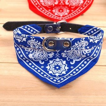 Harga Sanwood Adjustable Pet Dog Bandana Scarf Collar L - Blue