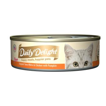 Harga Daily Delight Pure Skipjack Tuna White & Chicken with Pumpkin (24 x 80g)